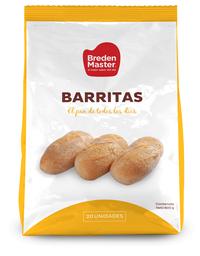 Pan Barritas Congeladas bolsa 20 unidades