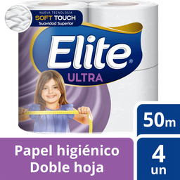 Papel Higienico Elite Doble Hoja 4Un