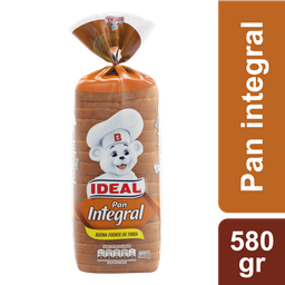 Pan de Molde Integral Ideal 580g