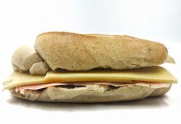 Mini baguette de jamón queso