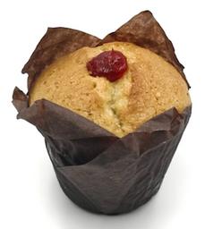 Muffin sin azúcar de Vainilla y Frambruesa