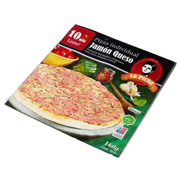 Pizza Jamon Queso Individual 17 Cm
