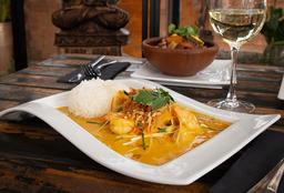 Camarón y Ostión al Curry