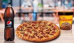 Pizza Dominator + Bebida 3 L + La Cremería