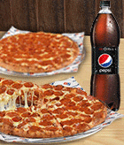 2 Pizza Doble Pepperoni + Bebida 1.5 L