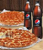 2 Pizza Doble Pepperoni + 2 Bebida 1.5 L