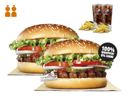 2 Combos Rebel Whopper
