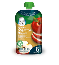 Pouch Manzana Organico Gerber 110g