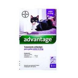 Advantage Gatos 4-8 Kg X 0,8 Ml