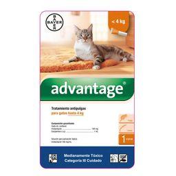 Advantage Gatos Hasta 4 Kg X 0,4 Ml