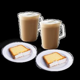 2x Latte Vainilla Lemon Cake