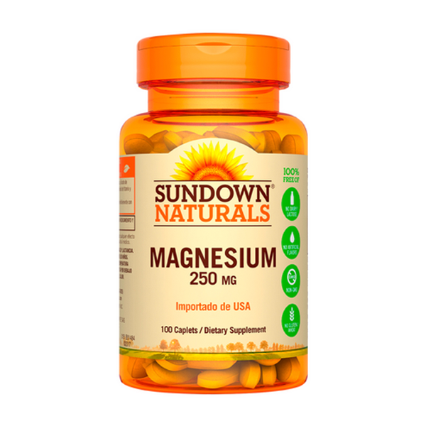 Magnesium Sundown 100 Cápsulas (250 mg)