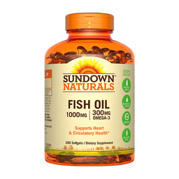 Suplemento Sundown Fish Oil 200 Cápsulas (1000 mg)