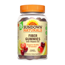 Suplemento Sundown Fiber Gummies + Vitamin D3 50 U