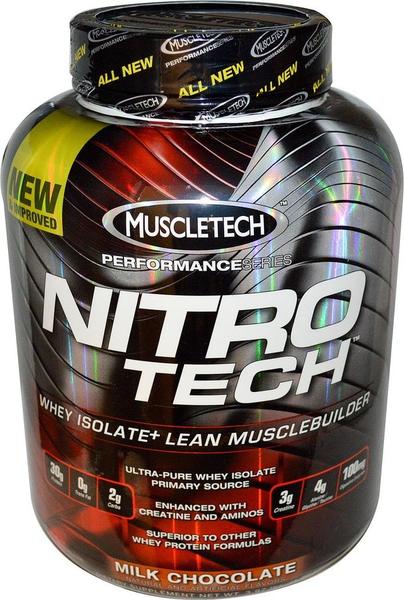 Proteína Muscletech Nitro Tech Mezcla Chocolate 4 Lb