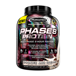 Proteína Muscletech Phase 8 Protein Mezcla Cookies 4 Lb