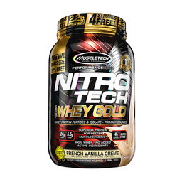 Proteína Muscletech Nitro Tech 100% Whey Gold Vainilla 2,2 Lb