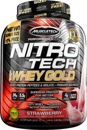 Proteína Muscletech Nitro Tech 100% Whey Gold Frutilla 5,5 Lb