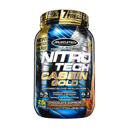 Proteína Muscletech Nitro Tech Casein Gold Chocolate 2,5 Lb