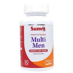 Multivitamínico Sunvit Life Multi Men 60 Tabletas