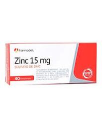 Suplemento Alimenticio Farmadel Sulfato de Zinc 40 Comprimidos