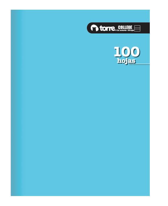 Cuaderno College 100 Calig Horizontal Torre
