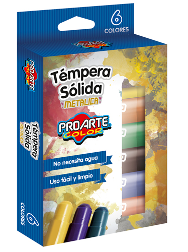 Tempera Sola Metalica 6 Colores