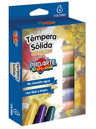 Tempera Sola Metalica 6 Colores