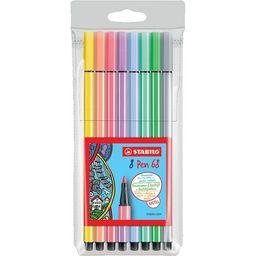 Plumones Stabilo Pastel 8 Colores 68/8-01