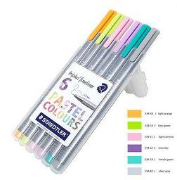 Lapices Fineliner Pastel Triplus Staedtler 6 Colores