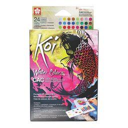 Acuarela 24 Colores Fluorecente-Perlecente-Metalicos Sakura Koi