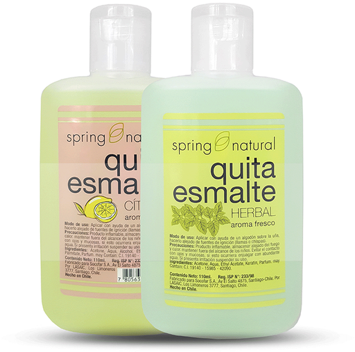 Spring Natural Cosmetico Uñas Quita Esmalte