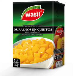 Duraznos Cubitos Wasil 500g