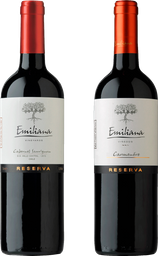 Promo: 2x Vino Reserva Santa Emiliana 750cc Variedades