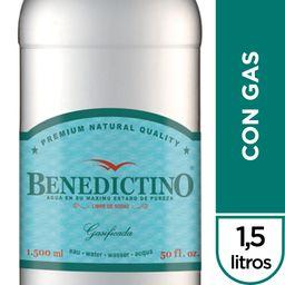 Agua Benedictino Con Gas Botella 1.5Lt