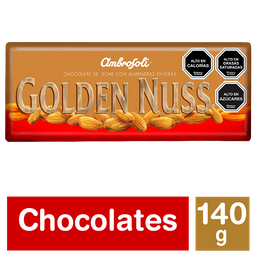 Chocolate Con Almendras Golden Nuss