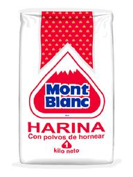 Harina Mont Blanc Con Polvos De Hornear