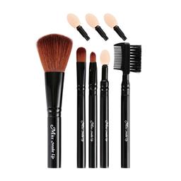 Kit Brochas de Maquillaje Para Rubor Negro 5 U