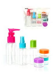 Set de Botellas de Viaje Multicolor 8 U