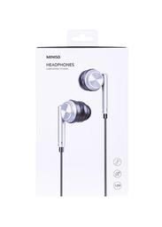 Audífonos de Cable Metálicos Sm552 Gris 1.2 m