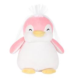 Peluche Pingüino Pequeño Novia Rosa