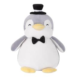 Peluche Pingüino Pequeño Boda Gris