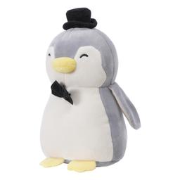 Peluche Mini Pingüino Boda Boy Gris