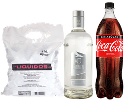 Alto del Carmen Transparente 750ml + Coca Cola 1.5L + Hielo 2kg