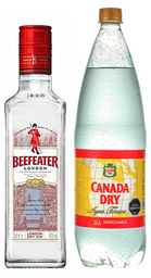 Beefeater Gin + Agua Tonica Canada Dry 1.5L