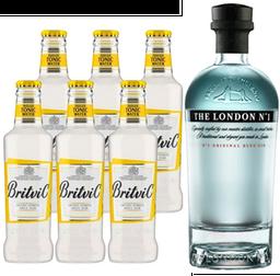 London N° 1 Gin + 6x Britvic tonica botellin