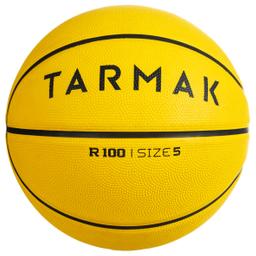 Balón De Basket R100 Talla 5 Amarillo