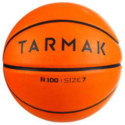Balón De Basketball Adulto R100 Talla 7 Naranjo
