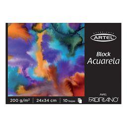 Block Acuarela 200Grs. 10Hjs. 24X34Cms. Fabriano
