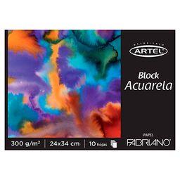 Block Acuarela 300Grs. 10Hjs. 24X34Cms. Fabriano